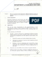 1994 AO8 Rules and Procedures Governing MediationConciliation of Agrarian Disputes by the Barangay Agrarian Reform Committee (BARC)