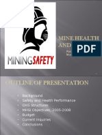 Occupational Health Performance-Rodger Allen Gold Mine