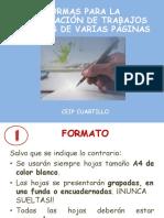 Normas Para La Presentación de Documentos de Texto (Más de 1 a4)