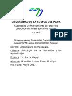 Universidad de La Cuenca Del Plata Ice 1 Edicacional 2017