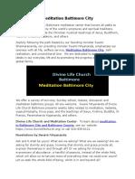 Meditation Baltimore City