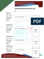 Formulir Esb 2017