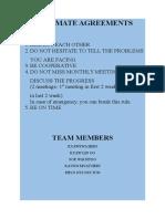 Teammate Agreements