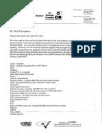 RoHS Sample Certificate