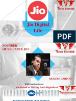 Reliance Jio and ThesisScientist.com