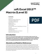 Excel Macros 2013