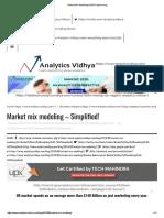 Market Mix Modeling _ SAS Programming