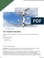 Craig, William - The Toughest Questions