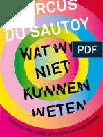 Wat we niet kunnen weten - Marcus du Sautoy (leesfragment)