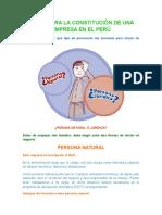 Pasos Para La Constitución de Una Empresa en El Perú
