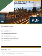 Set Up User Guide for ESR_PSLE Report Self-Service SolMan 7 1 SP12 (1)