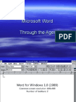 Microsoft Word Through the Ages