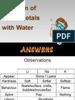 Alkali Metals Lab Answers