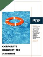 Corporate Recovery- The Semantics