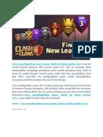 Cara Mendapatkan 2000 Gems Clash of Clans Gratis 2017