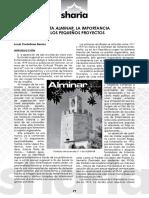 Revista Alminar. La importancia de los pequeños proyectos por Lucía Castellano Barrios en Sharia nº 75/2016 Boletín de la Asociación Amigos de Badajoz p. 29-31