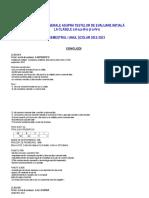 Concluzii Intrepretare Teste Miha 2012 Concluzii Initiale