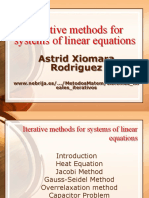 Iterative Methods for Systems of Linear Equations