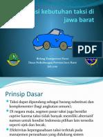 Evaluasi Kebutuhan Taksi Di Jawa Barat