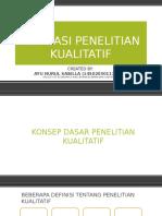 Fondasi Penelitian Kualitatif Bab 1