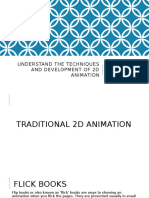 understand the techniques and development of 2d animation