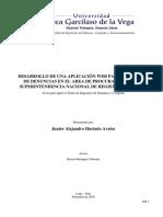 Desarrollo de Una Aplicación Web Para La Gestion de Denuncias en El Area de Procuraduria de La Su