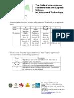 Manuscript Evaluation Form
