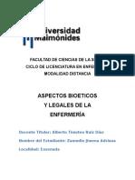 Bioetica y Legales 1º y 2º Entrega