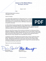 Letter to the President to light White House in blue for Peace Officers Day