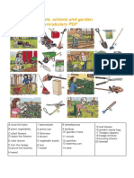Gardening Tools and Actions Vocabulary