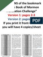 The Book of Mormon Translation Challenge BOOKMARK