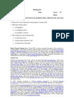 Test 2 . Test designing example