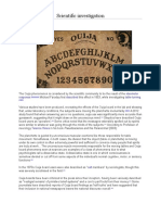 Scientific Investigation on Ouija