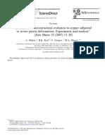 Erratum to ''Microstructural Evolution in Copper Subjected _Mishra(Act)