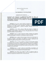 Draft of Philippine administrative order on pre-shipment inspection of containers