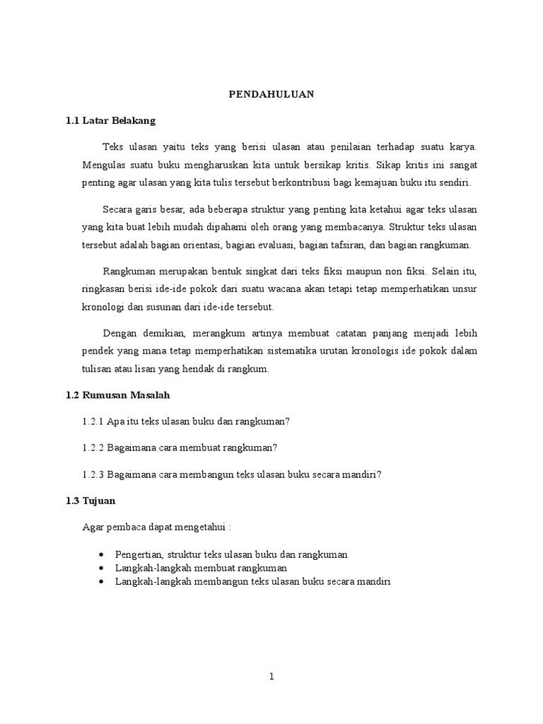 Regulae: Langkah Langkah Menyusun Teks Ulasan