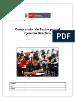 Comprensiòn de Textos Oara El Ejercicio Directivo