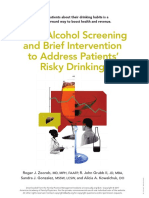 Using Alcohol Screening and Brief Intervention to Address Patients' Risky Drinking