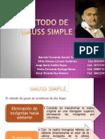METODO DE GAUSS SIMPLE