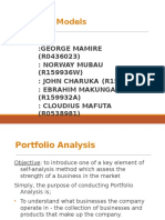 1-Marketing-Chapter4and5-Product Portfolio Analysis (Including the BCG, GE Models )