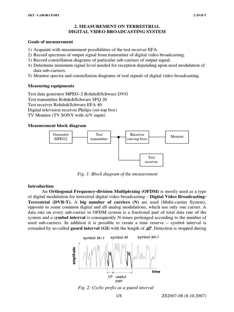 Masuratori in DVB-T.pdf | Orthogonal Frequency Division Multiplexing |  Modulation