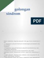 penggolongan sindrom