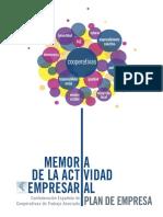Memoria de La Actividad Empresarial
