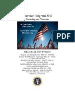 2017 Waterbury Veterans Dinner Program