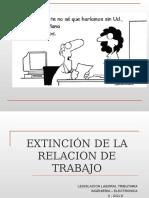 Extincion de La Relacion Laboral