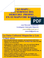EL  AZ-MAPU-LAS NORMAS DEL DERECHO PROPIO MAPUCHE-Por Juan Ñanculef-Presentación Osorno-abril-2017