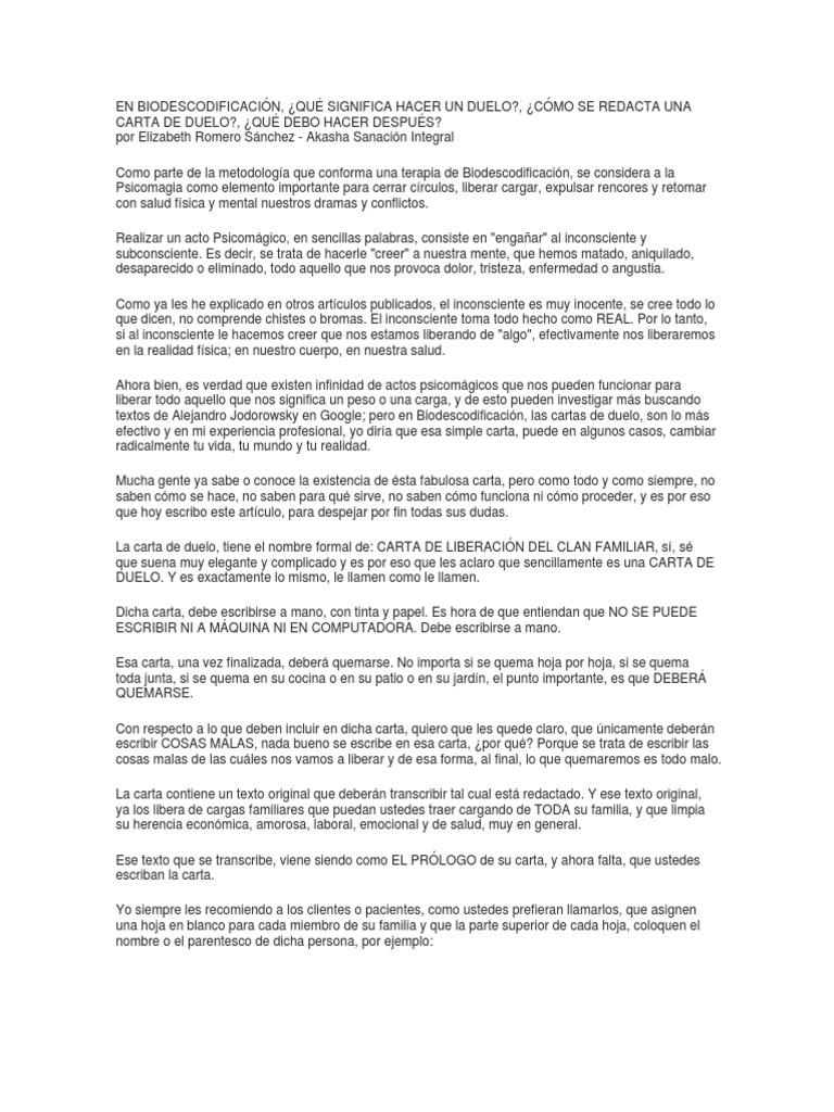 Carta De Liberación Del Clan Familiar — Vila \