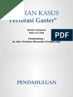 LAPORAN KASUS Perforasi Gaster