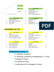Grouping List III CD