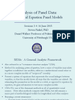 Panel Data Gothenburg.sessions 3-4.Structual Equation Panel Models